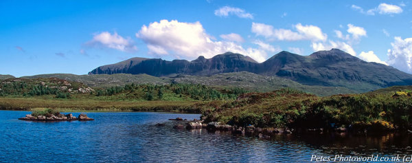 Quinag moutain wall panorama