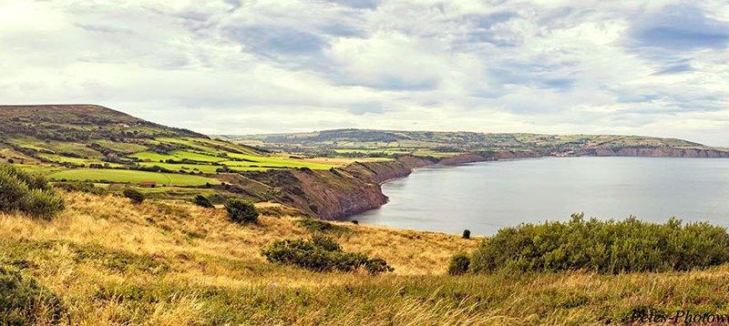 Panorama II looking towards Robin Hood's Bay from Ravenscar