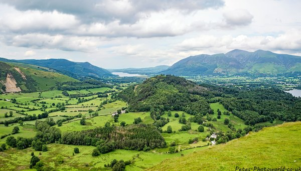 Panorama view of Bassenthwaite Lake & Skiddaw