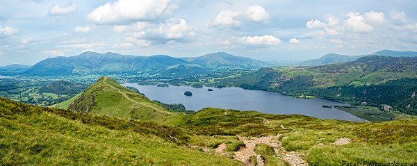 View from Maiden Moor of Derwentwater, Walla Cragg, Catbells, Keswick & Skiddaw
