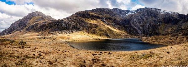 Tryfan, Glyder Fawr, and Llyn Idwal panorama