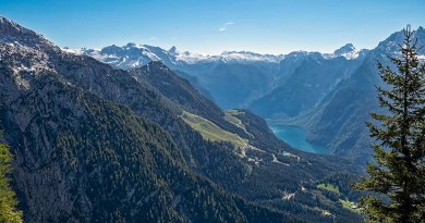 Scenic view of Lake Königssee from Eagle's Nest