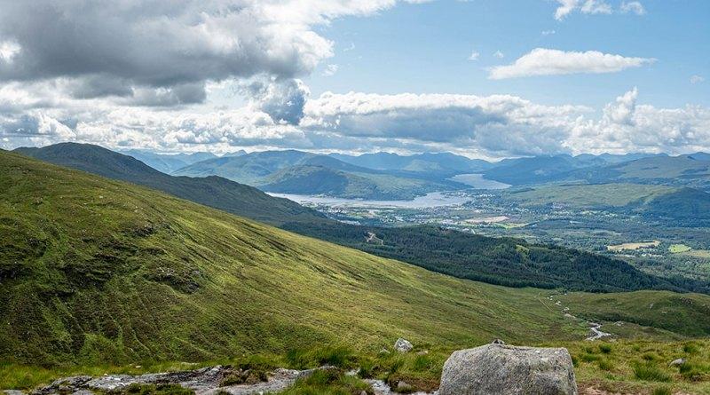 Loch Linnhe, Loch Eil, the hills of Ardgour and Moidart