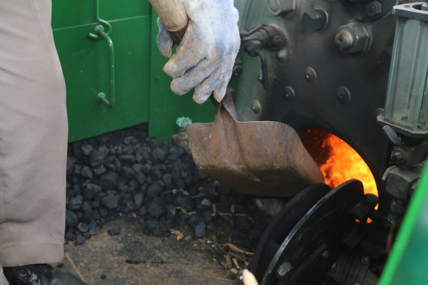Image 2016.4839: With a little bit of coal, the wheels go round! Photo (on my camera) by Rhys Harrison.