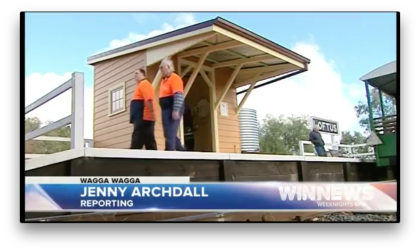 Jenny Archdall from Win News Riverina reports on the Opening of the new Waiting Shed at Pete's Hobby Railway