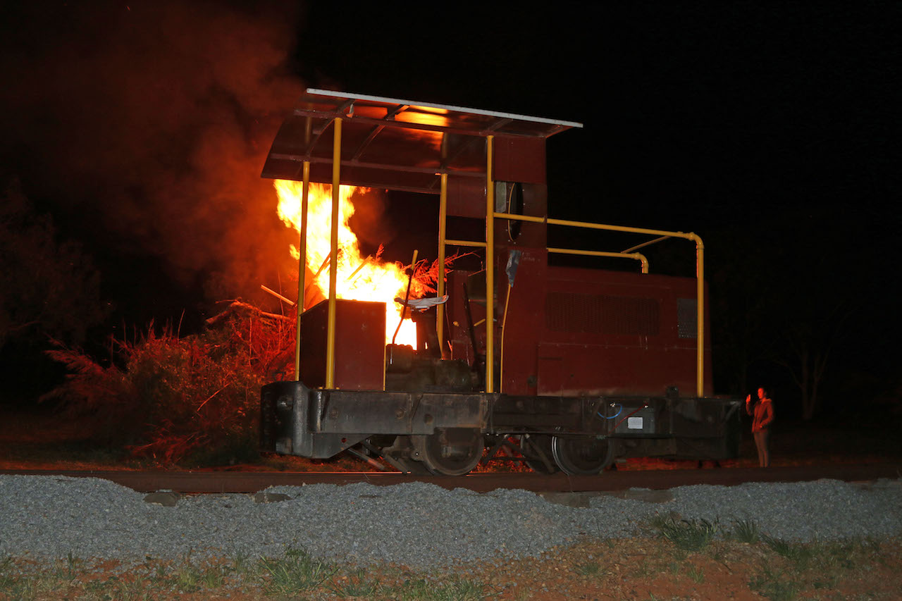Image 2019.2214A: No, the Ruston diesel has not caught fire!