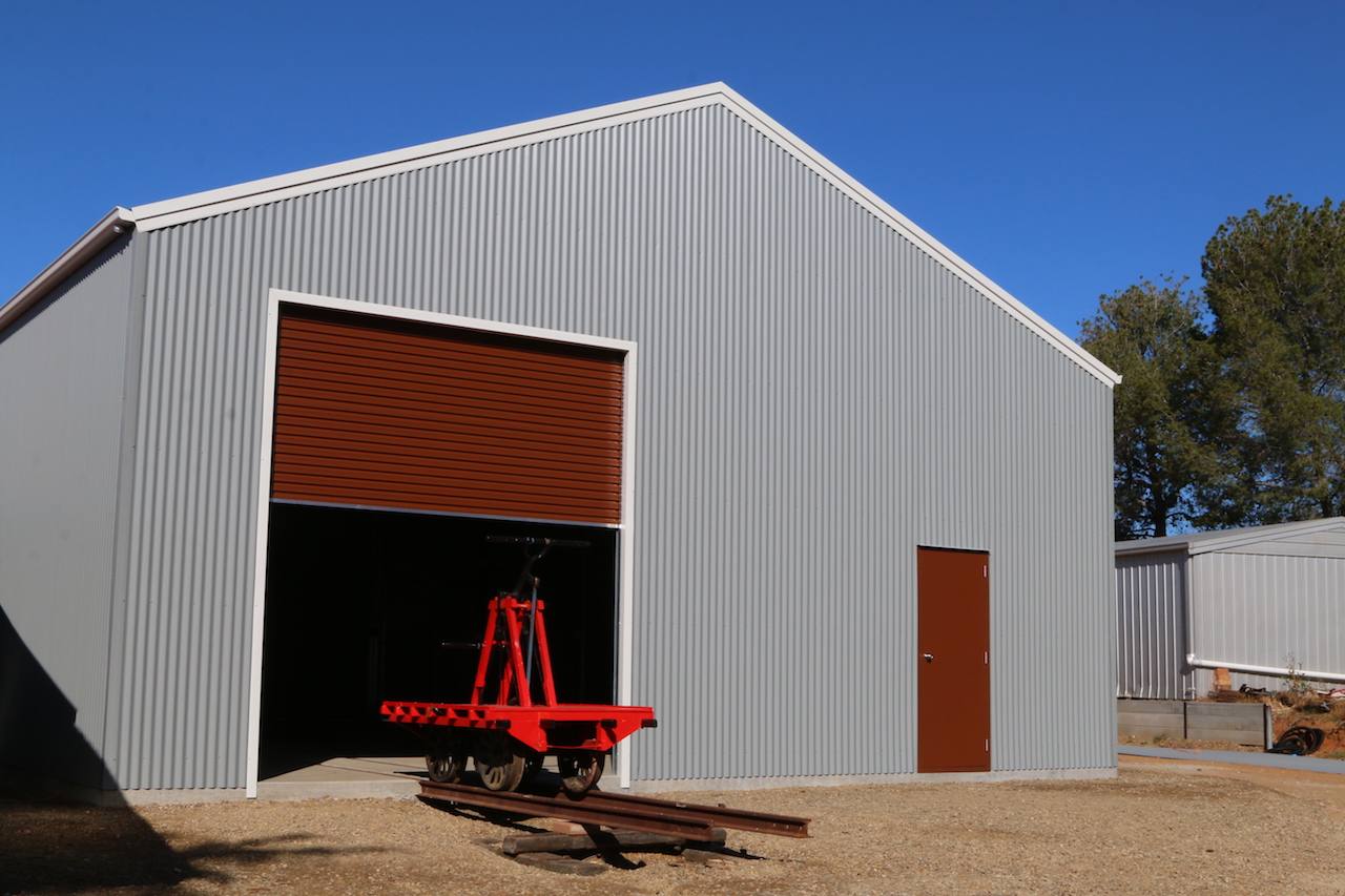 Image 2019.2297: It is Wednesday, 18th September, and I have taken possession of the completed structure. Until the final electrical works are undertaken, a temporary power supply cable has been extended from the back verandah of the house, turned on as required to operate the electrics within the shed.