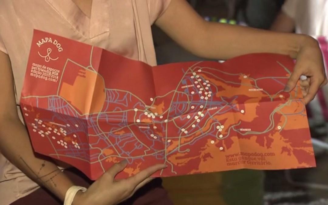Mapa mostra locais onde cachorros são bem-vindos no DF