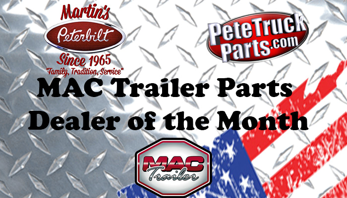 Mac Trailer Parts Dealer of the Month!