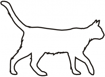 Petfoodshop - Aufkleber Katze Umriss schwarz
