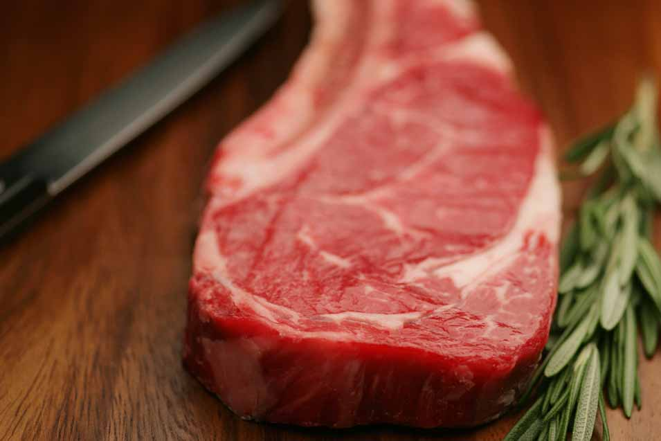 Picture of a rib steak