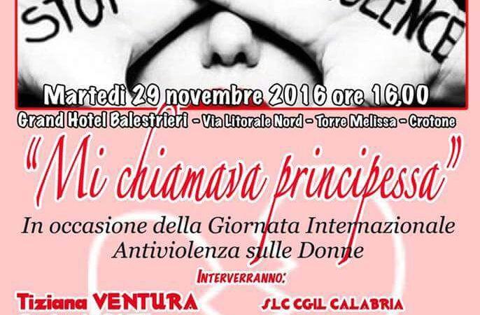 Violenza sulle donne: l'iniziativa targata Slc-Cgil Calabria