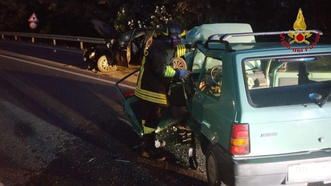 Incidente stradale sulla 107