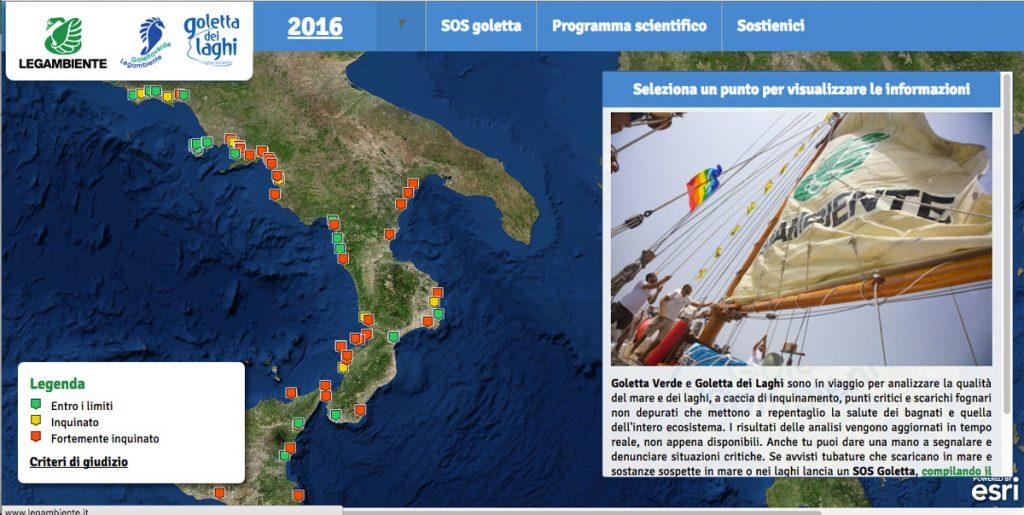 Goletta verde in Calabria: si conoscono i dati del monitoraggio