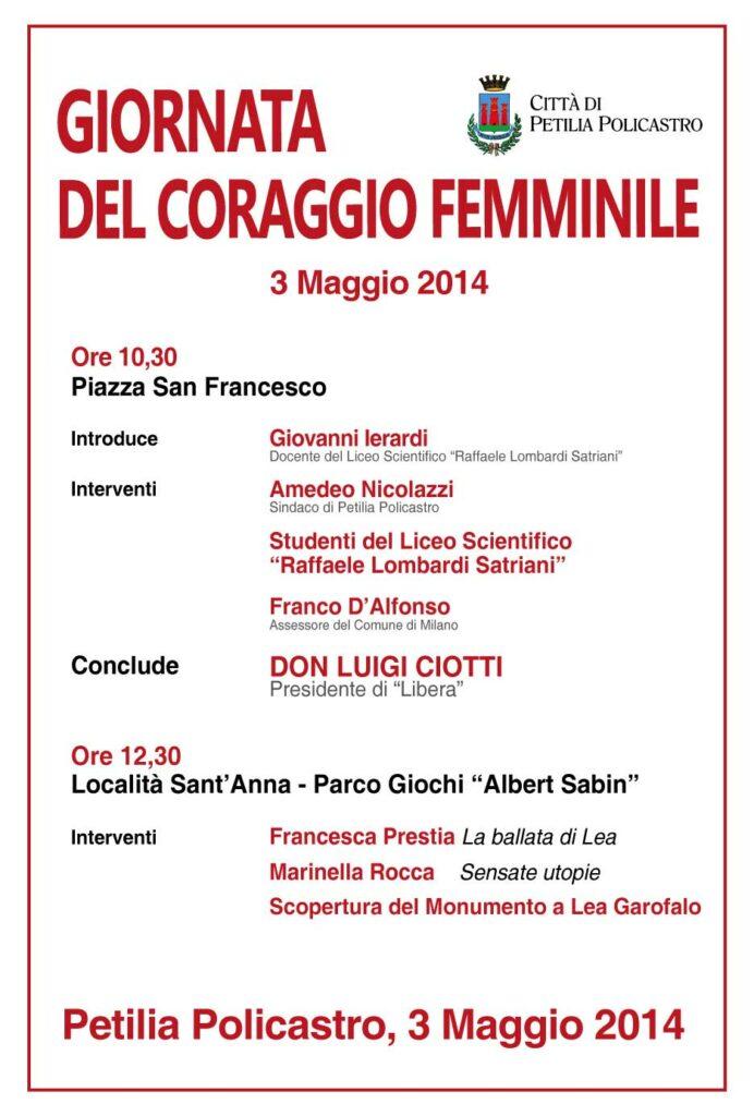 Giornata del coraggio femminile