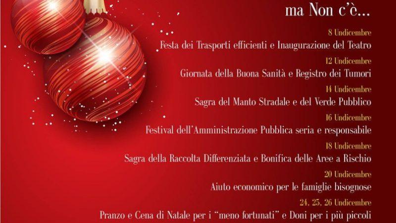 Natale: protesta social contro il calendario di eventi proposto dal Comune di Crotone