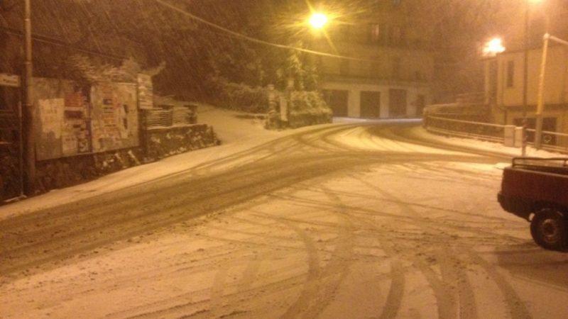 Nevica nel Marchesato