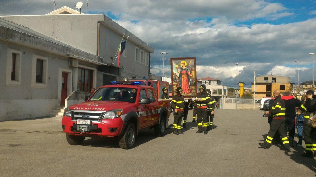 Santa Barbara festeggiata al distaccamento dei Vigili del fuoco di Foresta