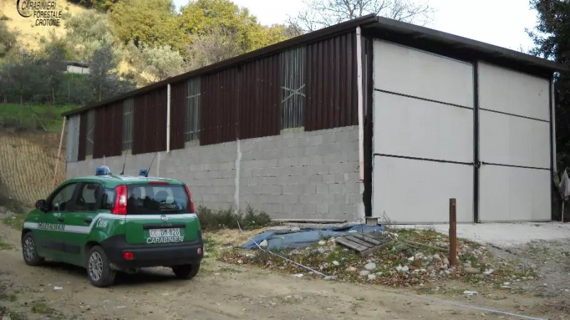 A San Mauro Marchesato capannone rurale completamente abusivo