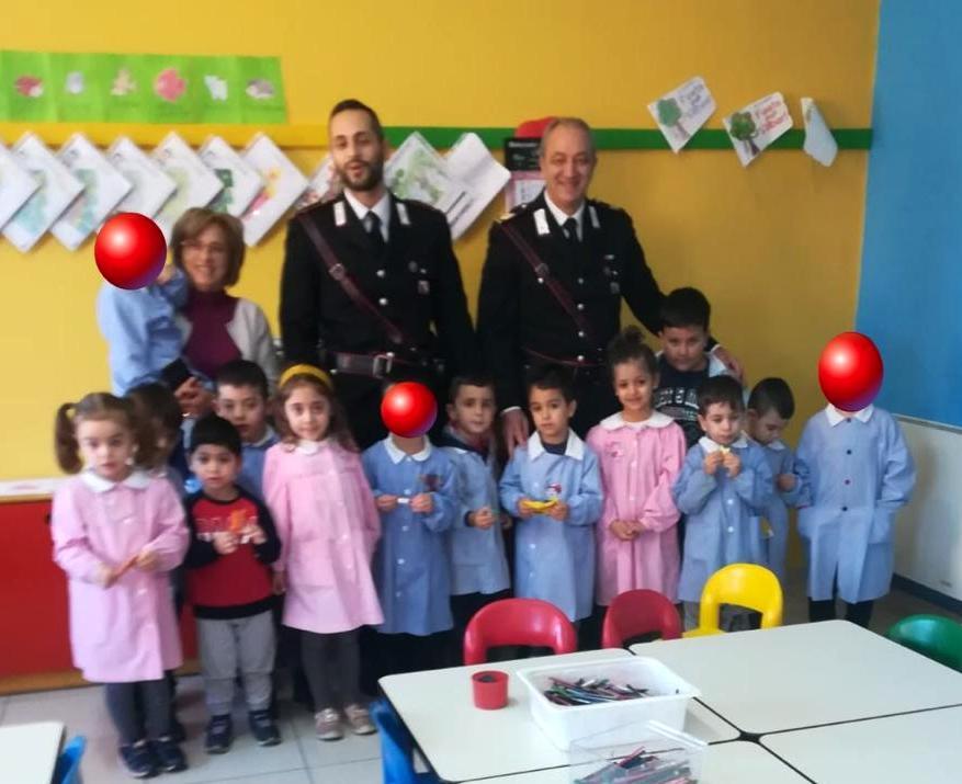 Grazie ai Carabinieri storia a lieto fine per la scuola dell'infanzia di San Pietro in Guarano
