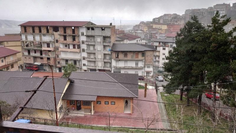 Fiocchi di neve su Petilia