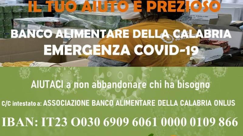 Emergenza Coronavirus: Si chiede aiuto per il Banco Alimentare della Calabria