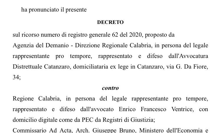 Buone notizie per la discarica di Scala Coeli: annullato il decreto per autorizzarla