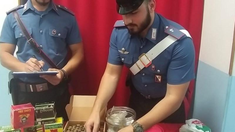 Roccabernarda: arrestato 35enne per possesso di munizioni e droga