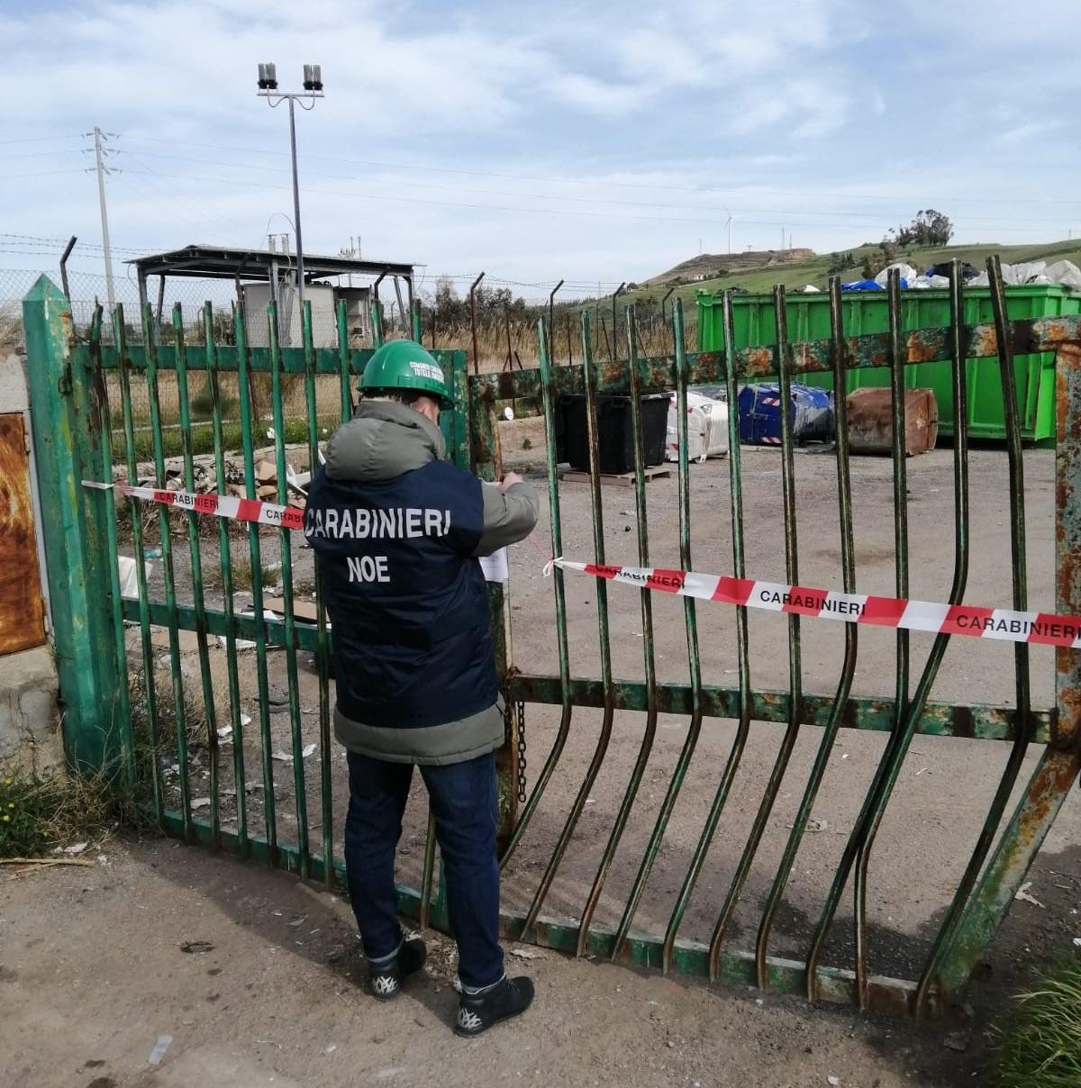 Contrasto alle violazioni in materia ambientale: I Carabinieri del Noe di Catanzaro sequestrano  centro di stoccaggio