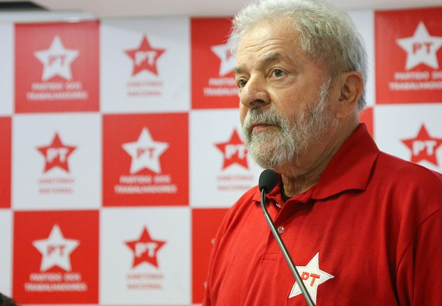 Lula em reunião no Diretório Nacional