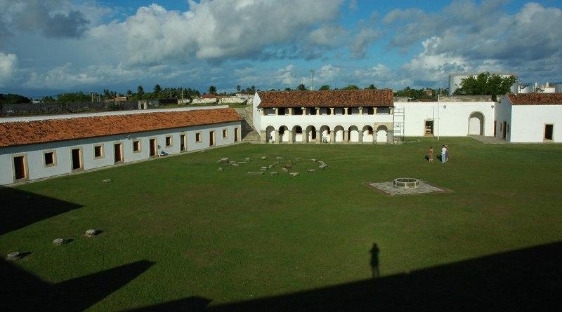 Vista panorâmica da Fortaleza de Santa Catarina, em Cabedelo/PB