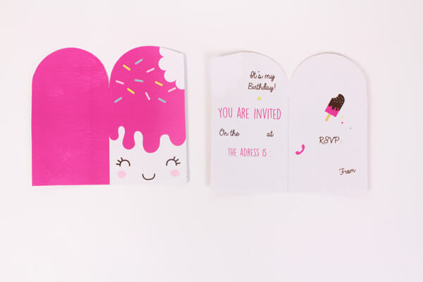diy popsicle birthday invitations