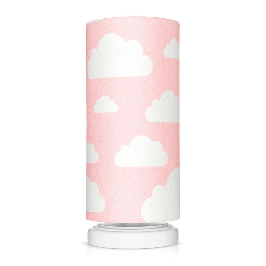 lampe de chevet enfant rose motif nuages