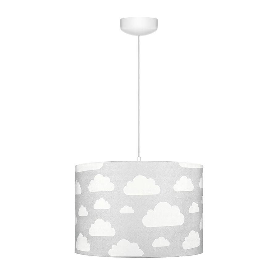suspension ou abat jour gris motif nuages