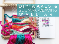 DIY Waves and Soumak Weaving Wall Art