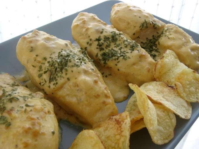Pechugas de pollo en salsa de cebolla Receta Petitchef