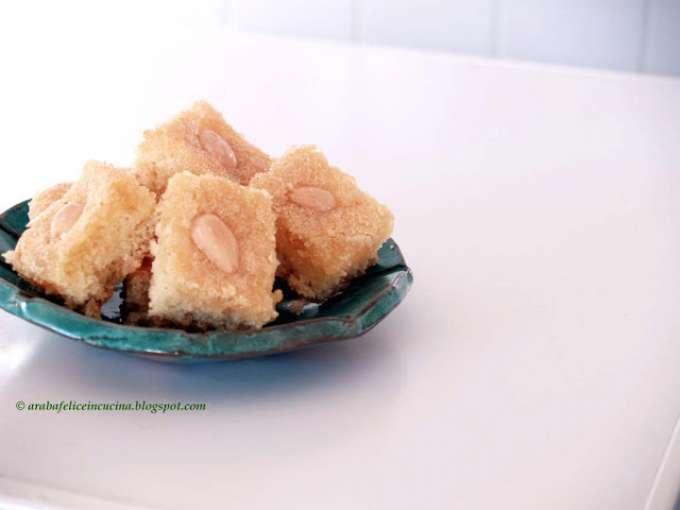Basbousa dolce arabo di semolino Ricetta Petitchef