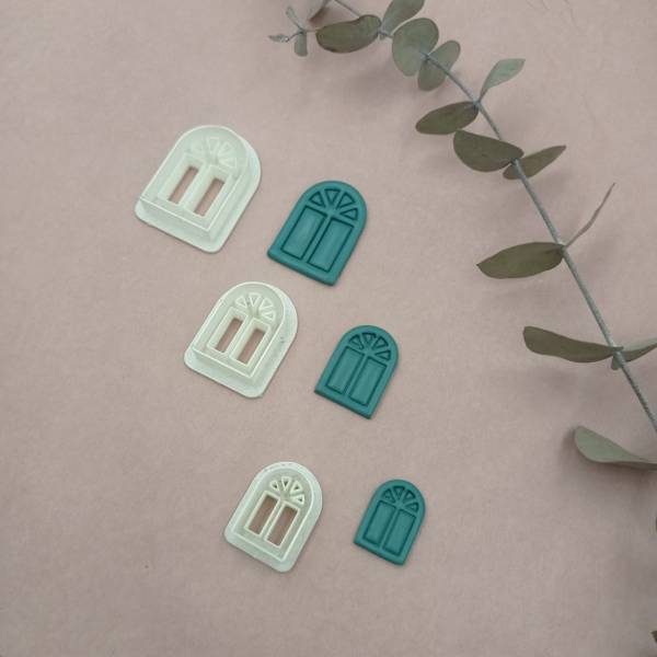 Polymer Clay Cutters | Polymer Clay Tools & Supplies | Handmade Jewellery | Clay Earring Tools | Window Shape | 3 Sizes Set