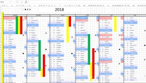 fabrication calendrier 2018