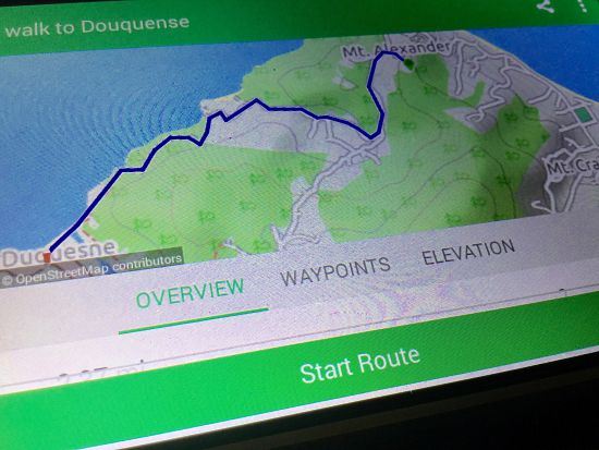 map walking trail Duquesne Bay Grenada