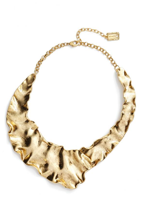 Gold Plate Collar Necklace KARINE SULTAN