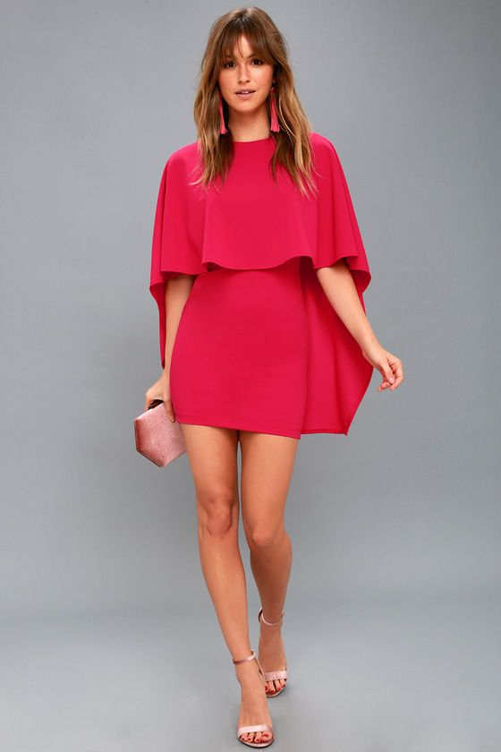 BEST IS YET TO COME FUCHSIA BACKLESS DRESS
