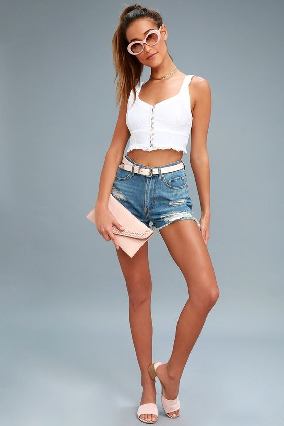 HERE I GO WHITE LACE BRAMI FREE PEOPLE