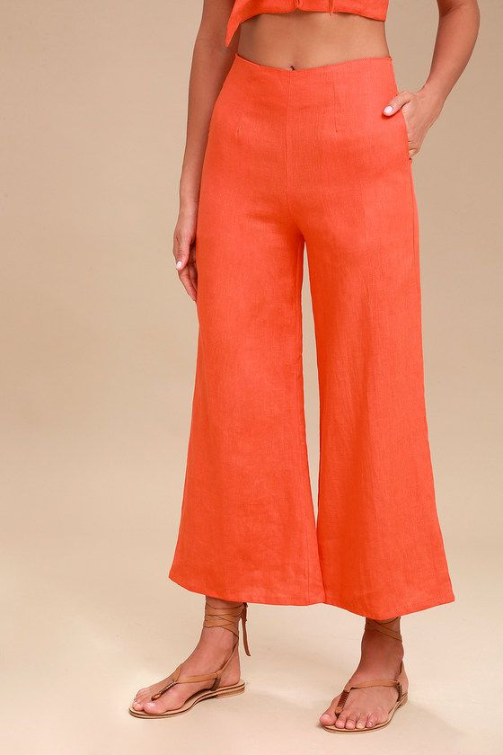TOMAS CORAL RED CULOTTES
