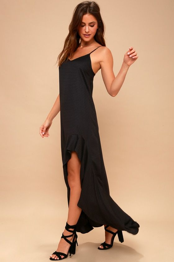 KICK IT UP BLACK MAXI DRESS
