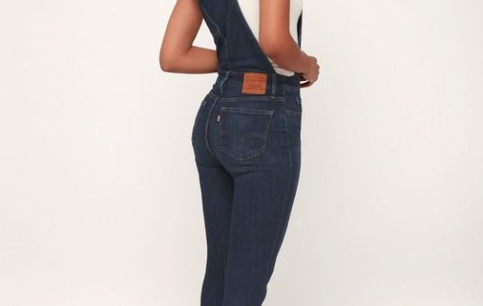 OVER AND OUT MEDIUM WASH SKINNY OVERALLS