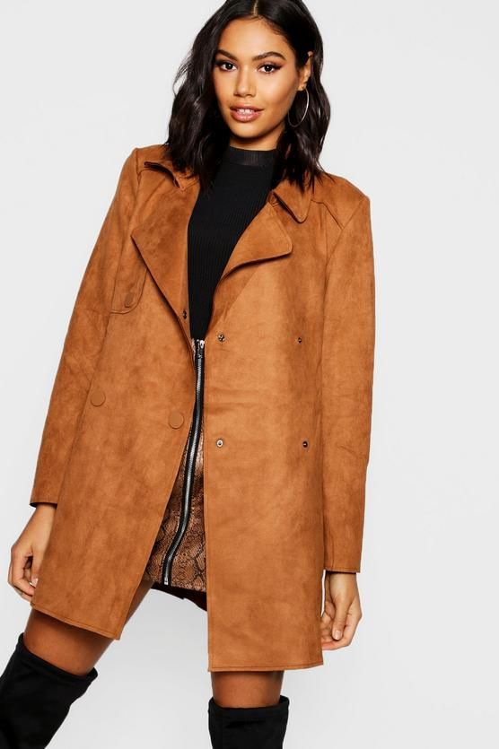Suedette Double Breasted Jacket