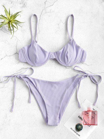 Ribbed Underwire Bikini Set