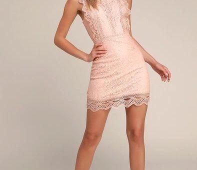 My Sweetheart Blush Pink Lace Mini Dress