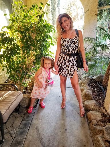 Leopard Slit Mini Cami Dress